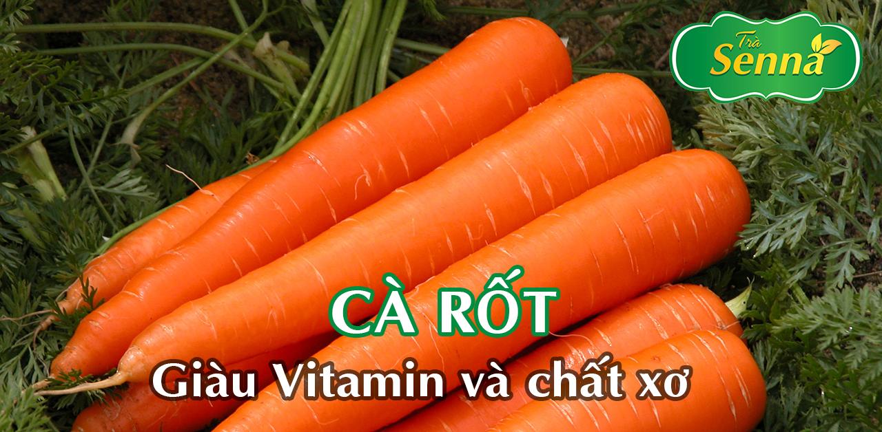 Cà rốt giàu vitamin và chất xơ