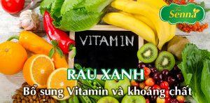 Rau xanh bổ sung vitamin và khoáng chất