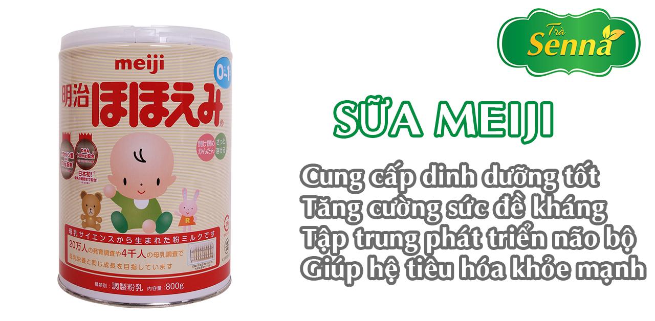 Sữa meiji dùng cho trẻ táo bón
