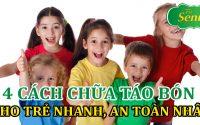 4 cách chữa táo bón cho trẻ em nhanh và an toàn nhất