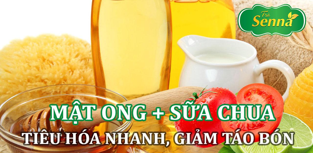 Mật ong và sữa chua giúp tiêu hóa nhanh, giảm táo bón